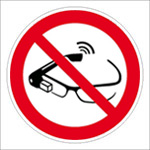 Use of smart glasses prohibited